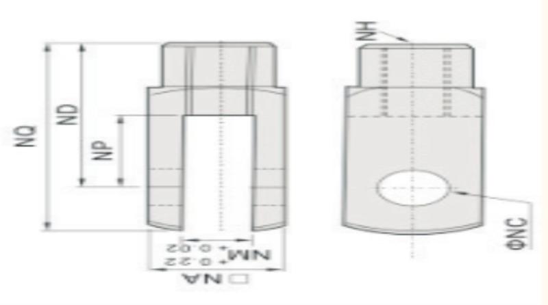 UP VYC-50/63 GŁOWICA WIDEŁKOWA M16X1,5