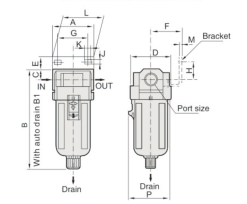 """UP EF4000-03 FILTR 3/8"""""""