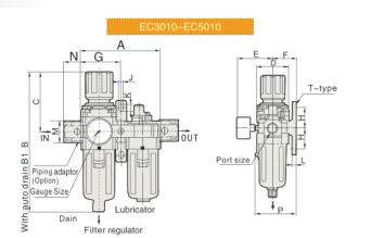 """UP EC3000-02 FRL 1/4"""""""