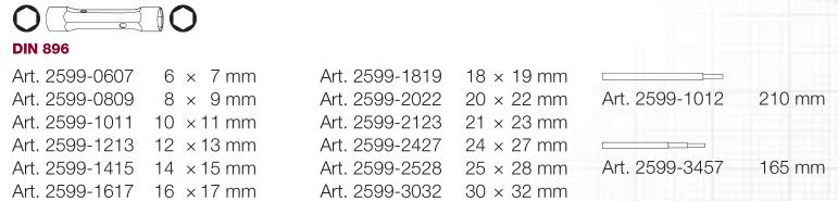 KW 2599-0809 KLUCZ RUROWY 8X9 MM