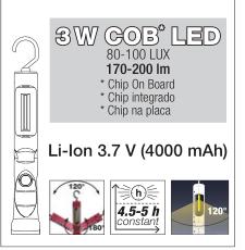 KW 32022 LATARKA LED 3W LI-ION 3,7V