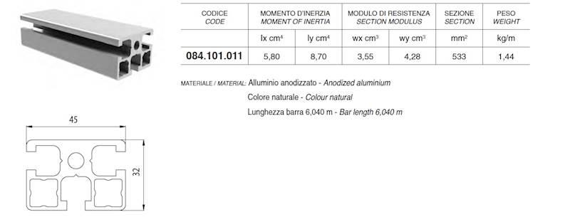 ALUSIC 084101011 PROFIL 32X45
