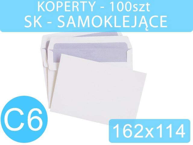 KOPERTY C6 SK BIAŁE 100szt NC [1000]