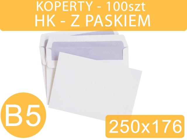 KOPERTY B5 HK BIAŁE 100szt NC [500]