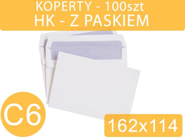 KOPERTY C6 HK BIAŁE 100szt [1000]