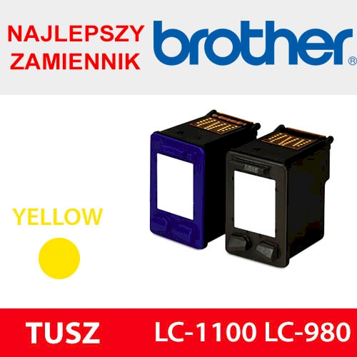 BROTHER CARTRIDGE LC-1100 LC-980 YELLOW ZAM