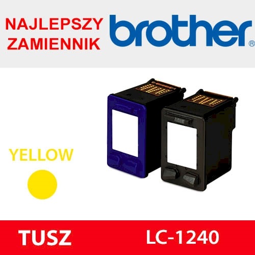 BROTHER CARTRIDGE LC-1240 YELLOW ZAM