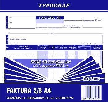 DRUK FAKTURA VAT A4 2/3 1005.TYP