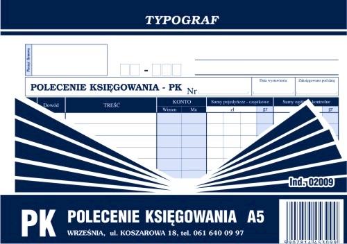 DRUK POLECENIE KSIĘGOWANIA A5 OFFSET DWUS 2009.TYP