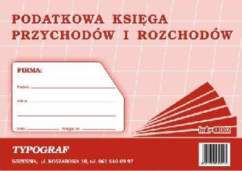 DRUK PODATKOWA KSIĘGA PRZYCH I ROZCH A5 48002.TYP