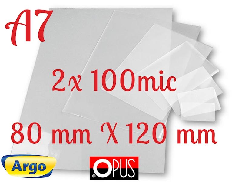 FOLIA DO LAMINOWANIA A7 80X120 100um 100szt