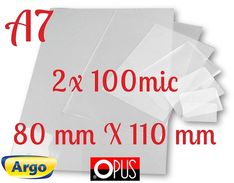 FOLIA DO LAMINOWANIA A7 80x110 100µm 100szt OPUS