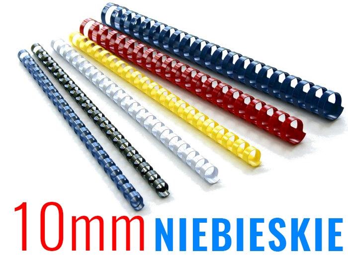 GRZBIETY DO BIND 10mm 100szt NIEBIESKIE