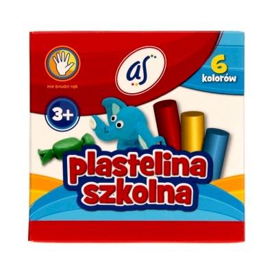 PLASTELINA 6kol AS
