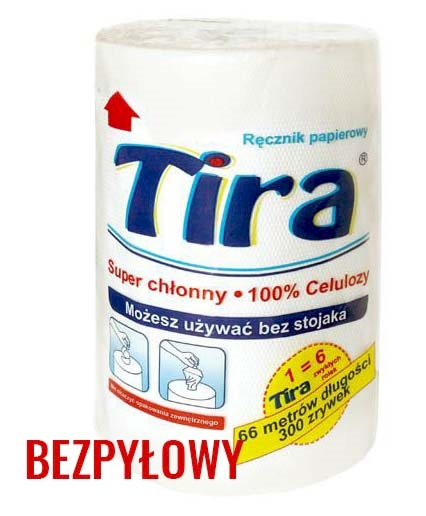 RĘCZNIK PAPIEROWY ROLKA 300 TIRA [12]