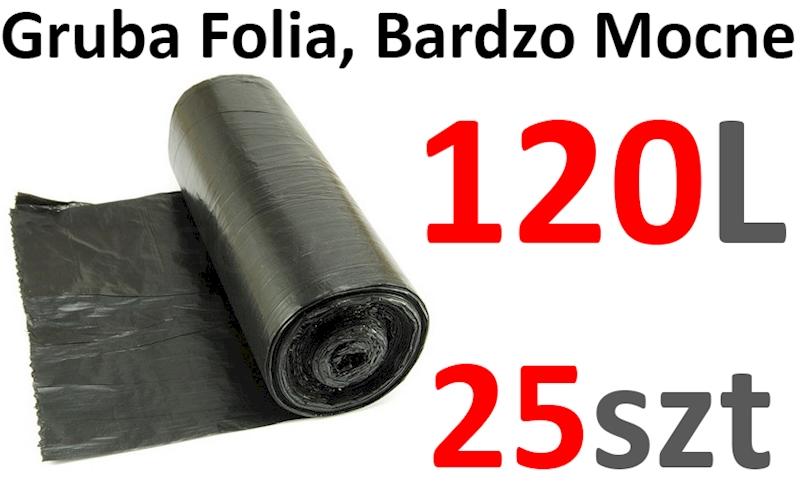 WORKI 120L 25szt CZARNE MOCNE SPOCO