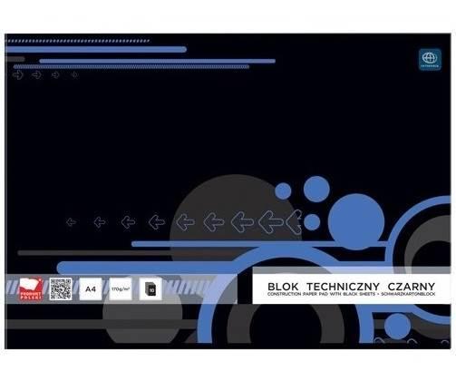 BLOK TECHNICZNY A4 CZARNY INTERDRUK / SDM