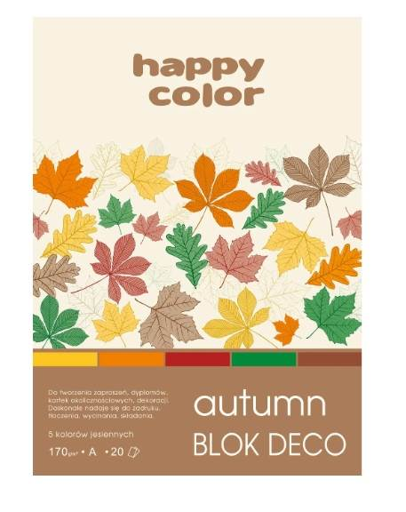 BLOK Z MOTYWAMI A4 DECO AUTUMN 20ark 170g HAPPY CO