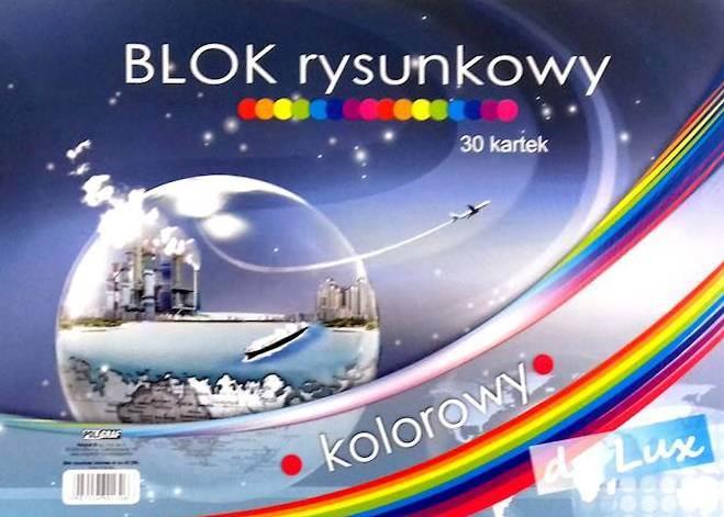 BLOK RYSUNKOWY A3 KOLOR DE LUX 30k POLIGRAF