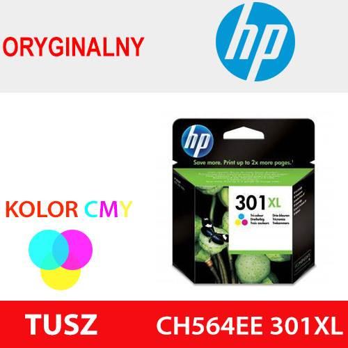 HP TUSZ CH564EE 301XL KOLOR ORYG 330k