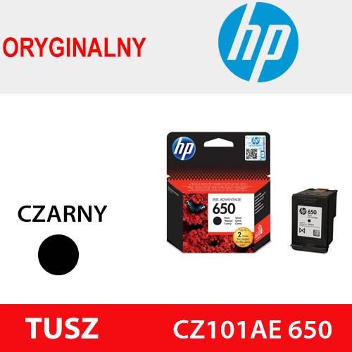HP TUSZ CZ101AE 650 CZARNY ORYG 6.5ml 360k