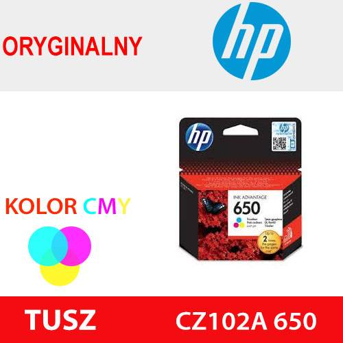 HP TUSZ CZ102A 650 KOLOR ORYG 200k