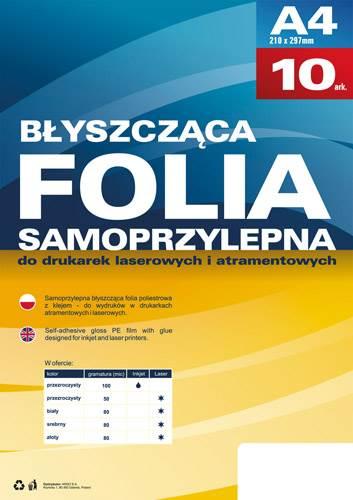 FOLIA DRUK ATRAMENT A4 10szt SAMOPR PRZEZRO ARGO